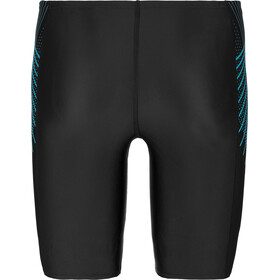 speedo Tech Panel Jammer-uimahousut Miehet, black/nordic teal/pool